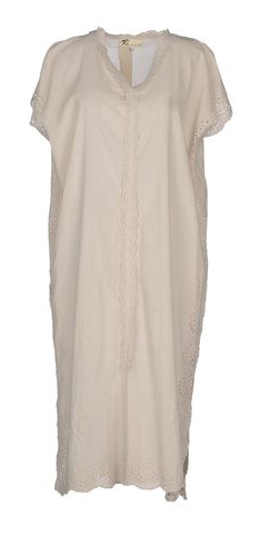 amazing cotton kaftan with eyelet and side slit detail. originally over $150!