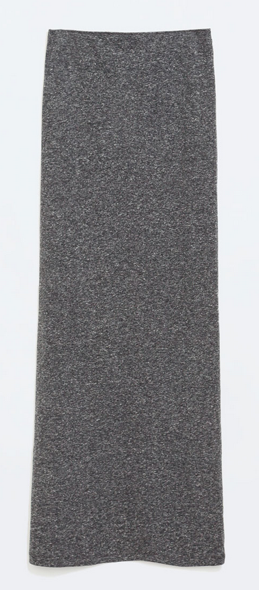 Marled long sheath skirt- $9.99 (was $19.90)