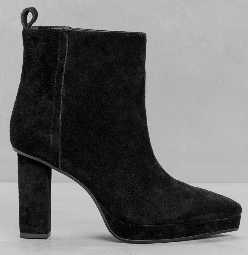 Pointy toe suede pull-on bootie- $45 (was $150)