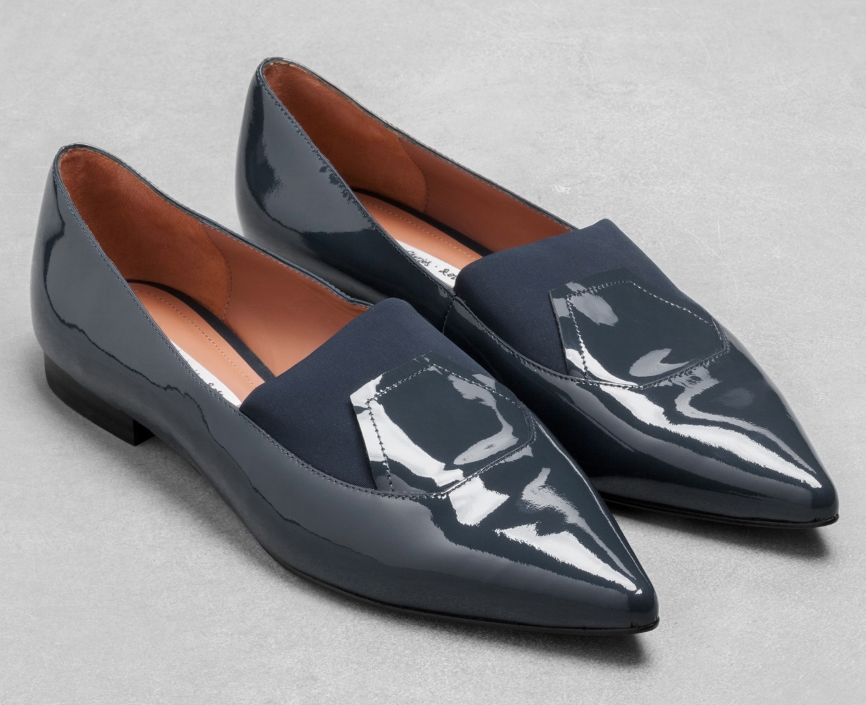Patent pointed toe flat- $50 (was $100)