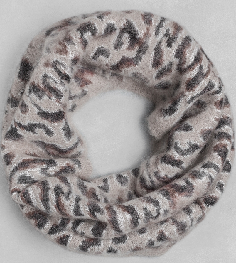 Wool/mohair leopard tube scarf- $23 (was $75)
