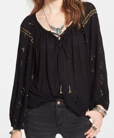 "Free People ""Golden Nugget"" tee- $35.99 (was $98)"