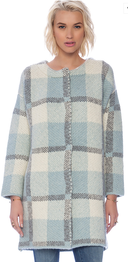 Joa oversized plaid coatigan- $69.99 (was $138)