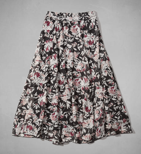 Georgette midi skirt- $20 (was $50)