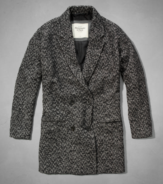 Wool-blend herringbone coat- $88 (was $220)