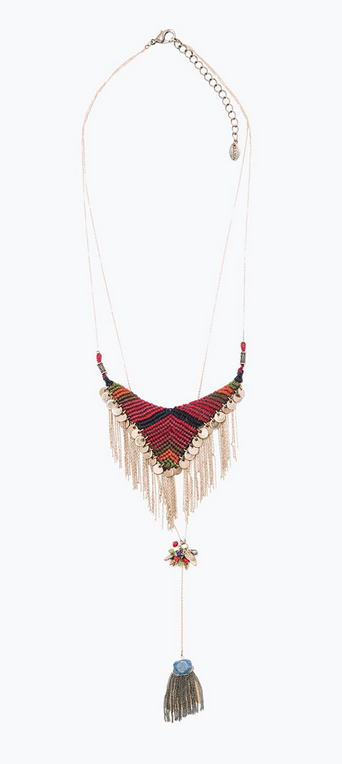 Zara textile mix necklace- $39.90