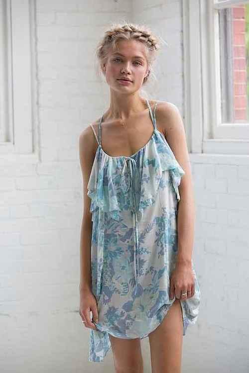 Kimchi Blue woven ruffle dress- $12.99 (was $48)