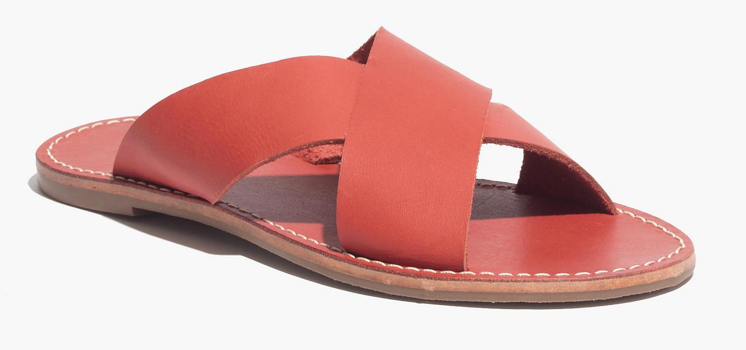Madewell the Sightseer slide sandal- $38 (was $59.50)