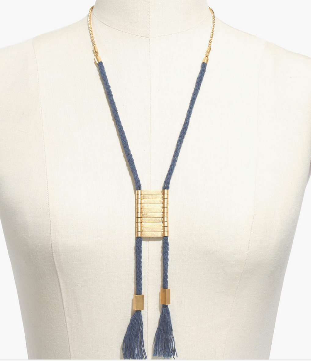Madewell Ropeswing necklace- $14 (was $28)