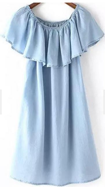 Romwe off-the-shoulder tencel dress- $19.33
