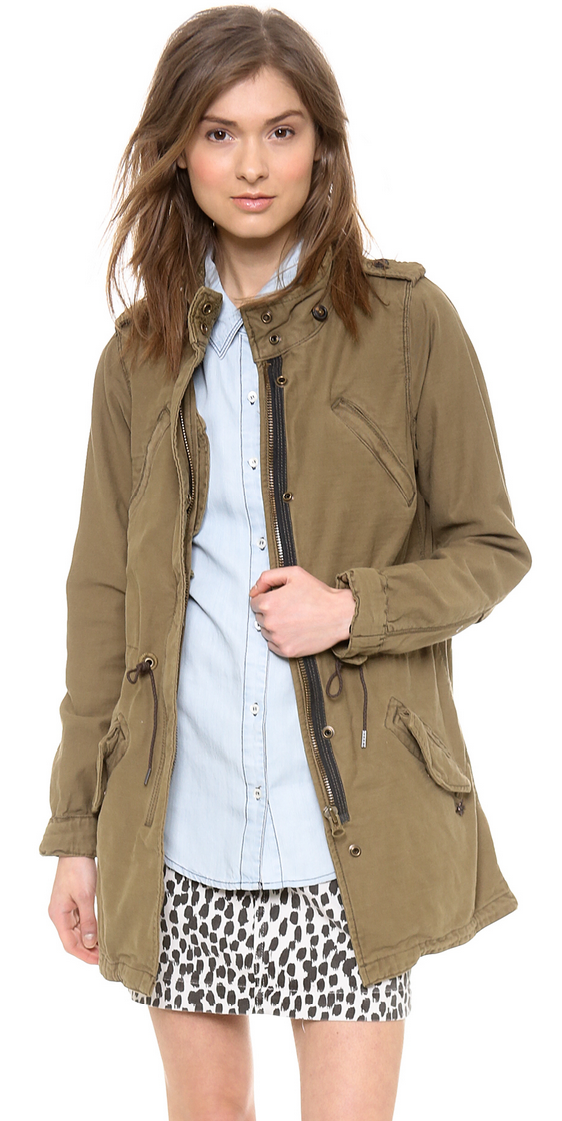 Maison Scotch slubby cotton parka- $49.99 (was $239)