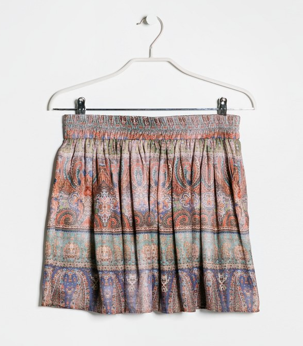 Paisley print skirt- $12.99 (was $49.99)