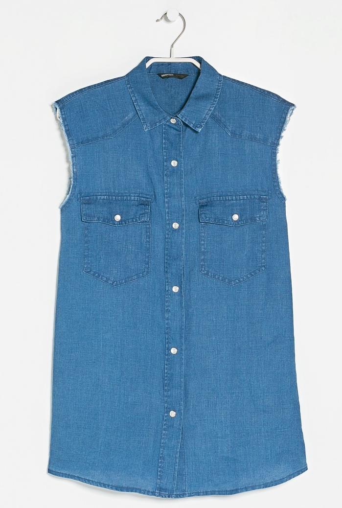 Linen cut-off shirt- $9.99 (was $59.99)