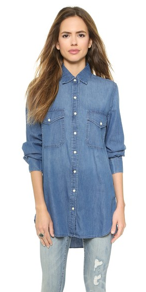 "Dakota Collective ""Marlow"" denim shirt- $24.99 (was $143)"