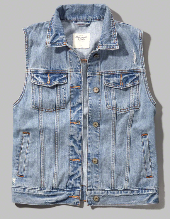 Abercrombie classic denim vest- $26 (was $58)