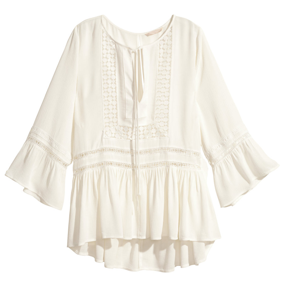 H&M Trend viscose blouse- $34.99 (was $59.99)  Another great boho top you'll be wearing into next summer.