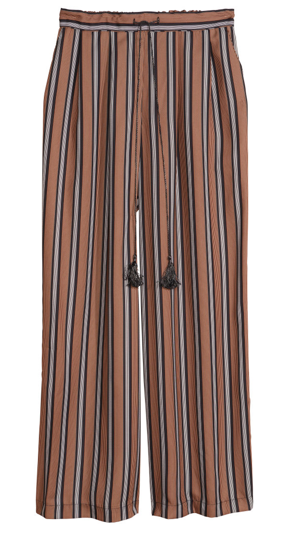 H&M striped wide-leg pants- $30 (was $49.95)  LOVE anything striped right now. And wide-leg. Extra bonus- the tassel.