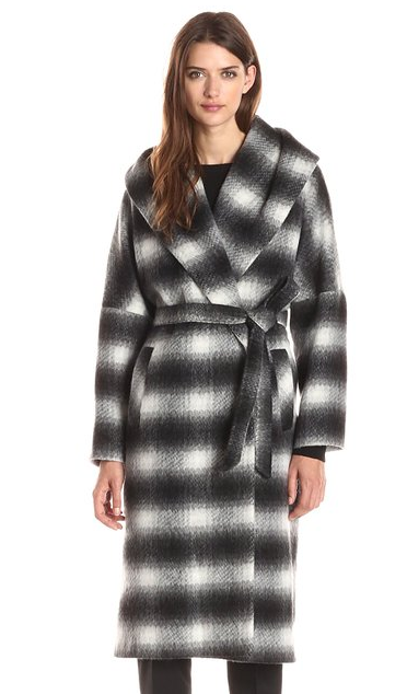Helene Berman plaid wrap coat- $80 (was $240)