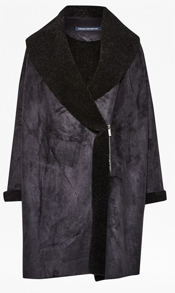French Connection cocoon faux shearling coat- $79 (was $275)