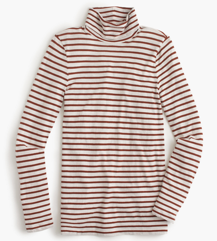 J. Crew striped tissue turtleneck- $45