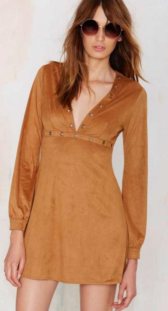 Faux Suede dress- $13.92 (was $58)
