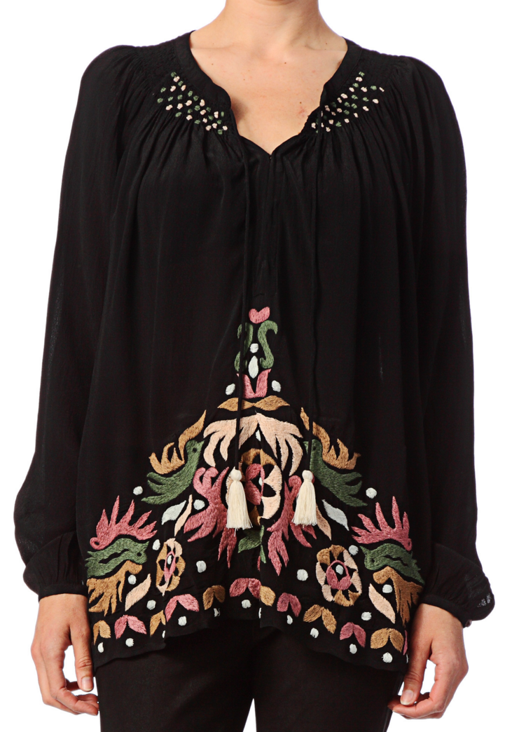 Antik Batik embroidered blouse- $53 (was $224)