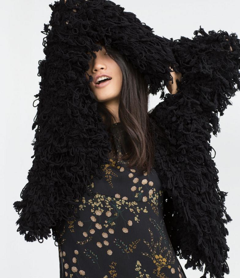Zara loop knit jacket- $39.99 (was $129)