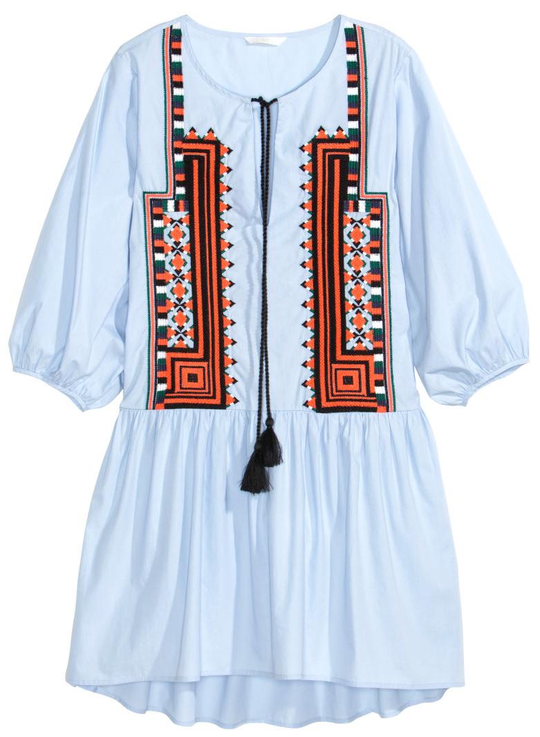 H&M Embroidered poplin dress- $49.99