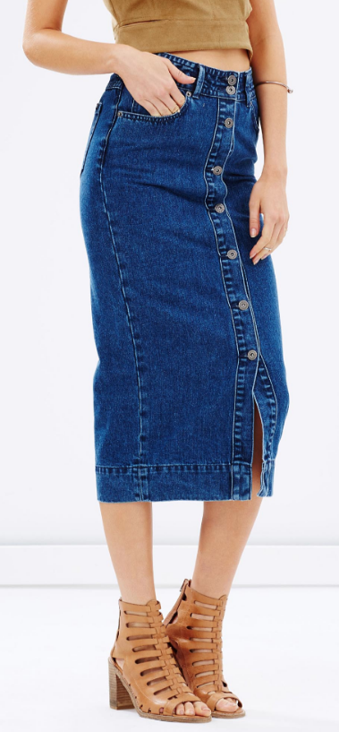 "Bardot ""Chloe"" denim skirt- $34 (was $142)"