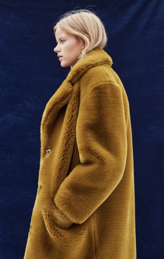 Mango faux fur coat- $199