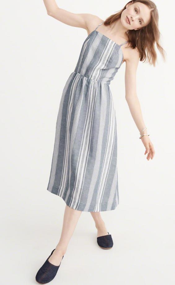 Abercrombie square neck linen dress - $68