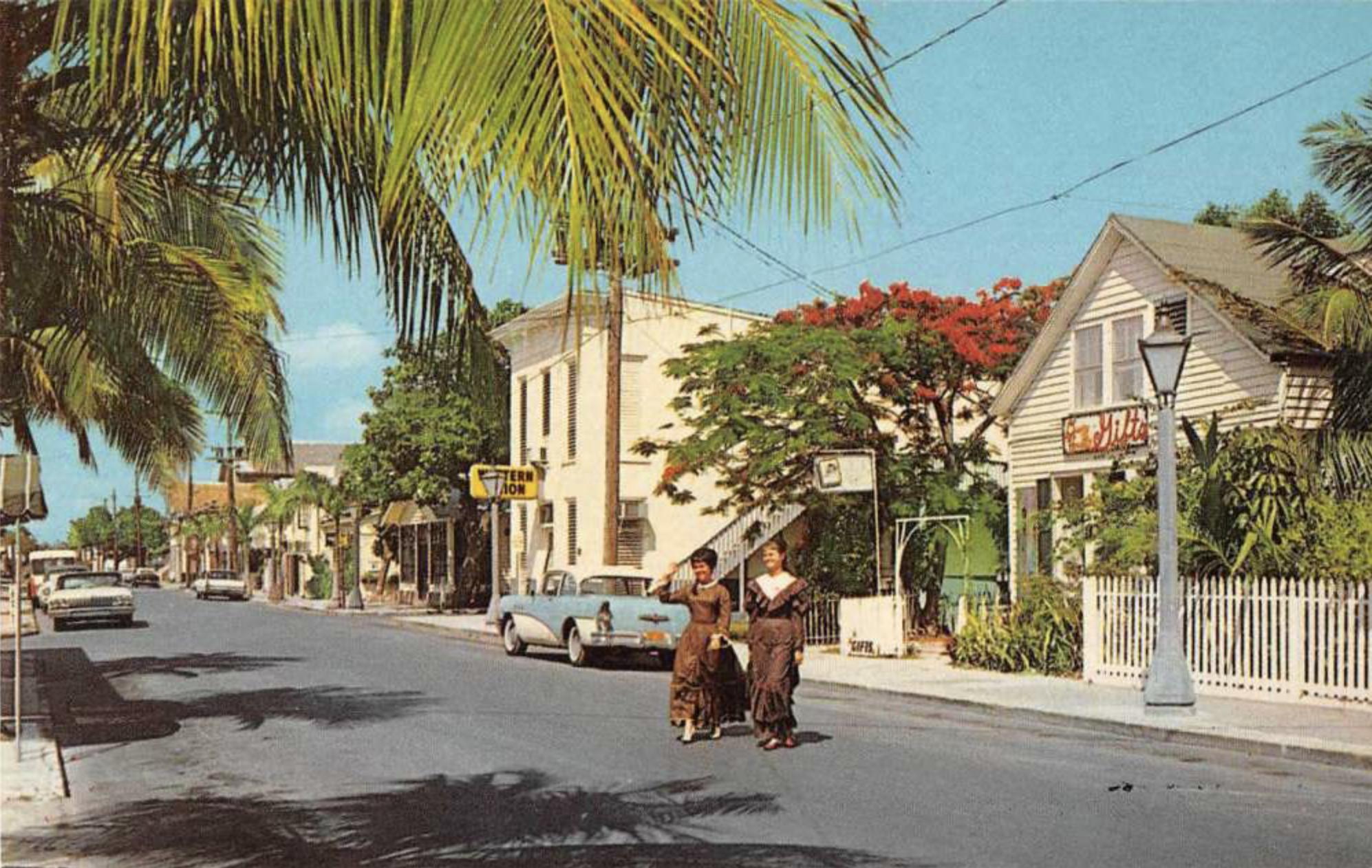 John Dewey House vintage postcard