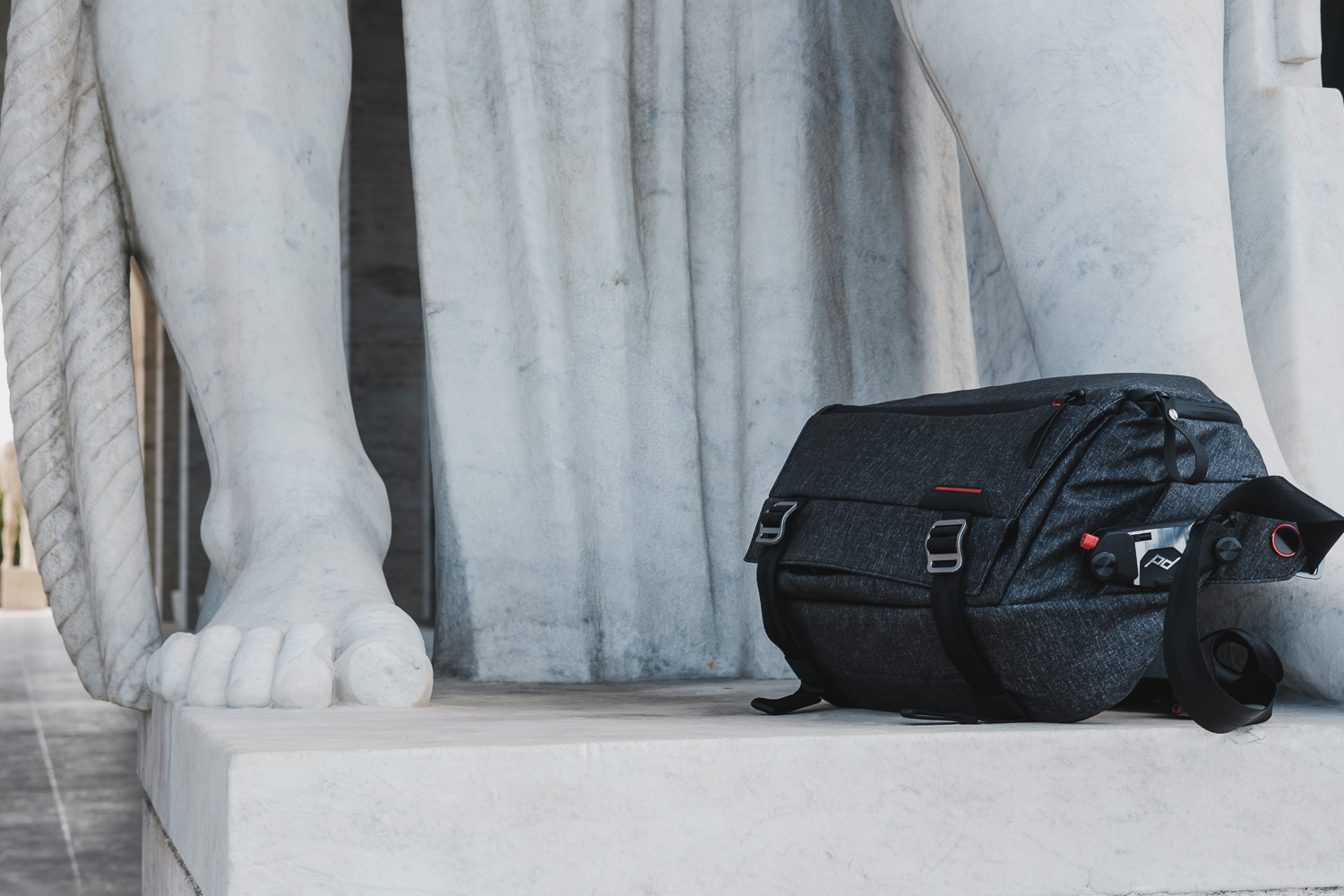The new Peak Design Sling, with the Capture Pro Clip attached to it.