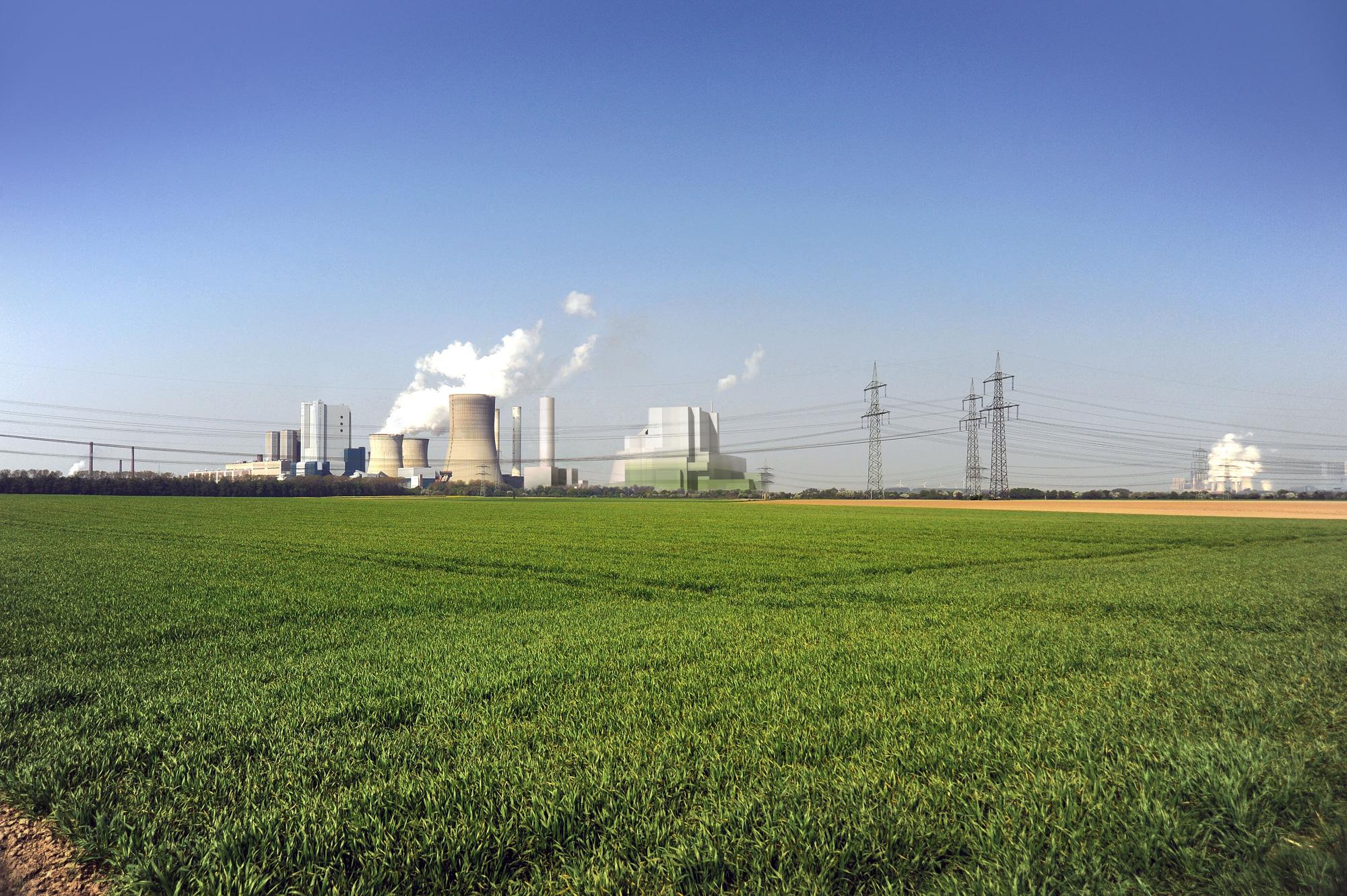 Kraftwerk Industrie Farbkonzept