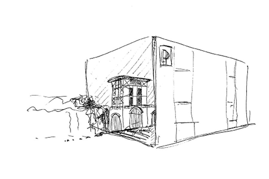 Feuerwehr_Cottbus_Historisch_Wandbild_Skizze_Entwurf