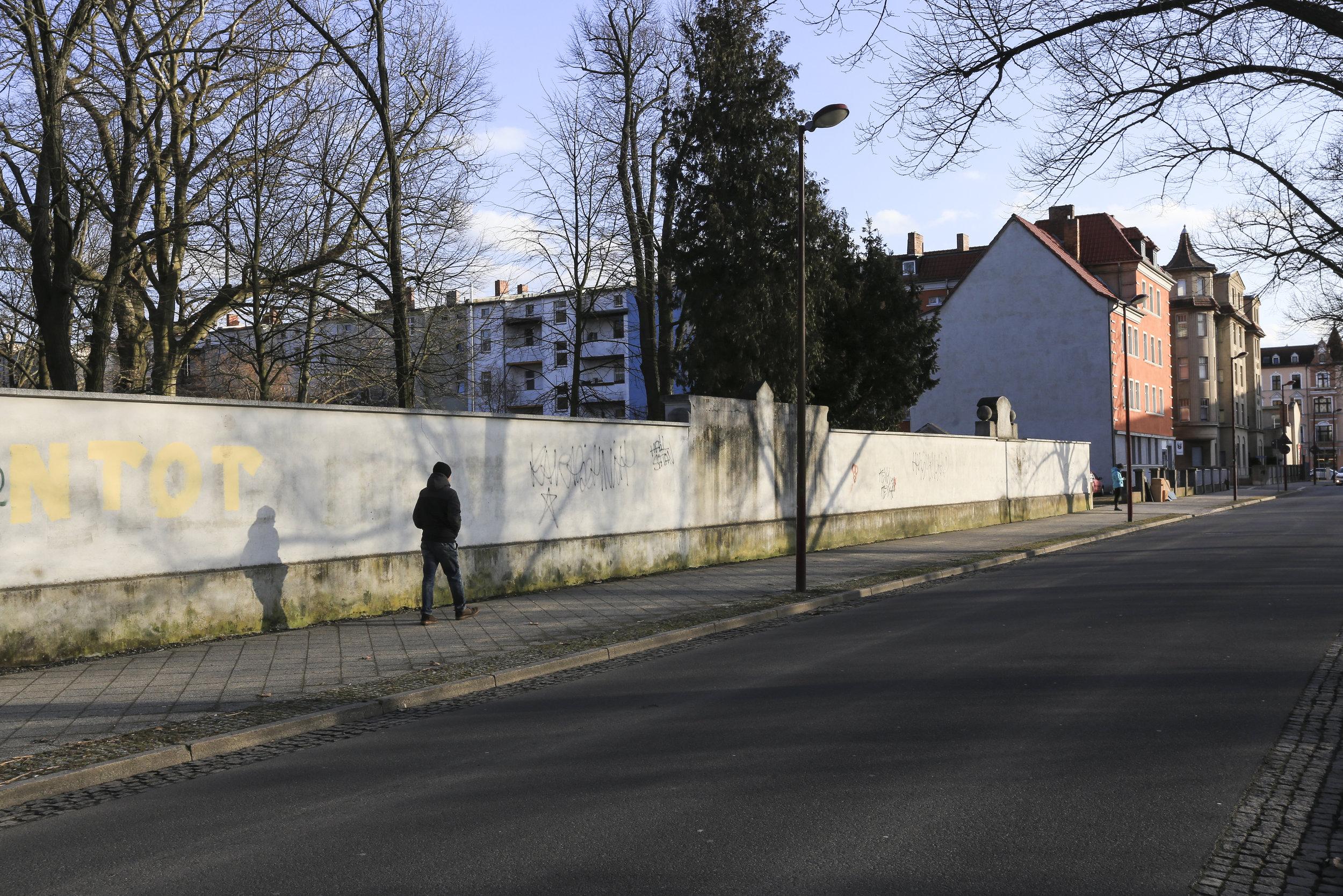 Forst_Lausitz_Mauer_Fassade_Graffiti_Vandalismus