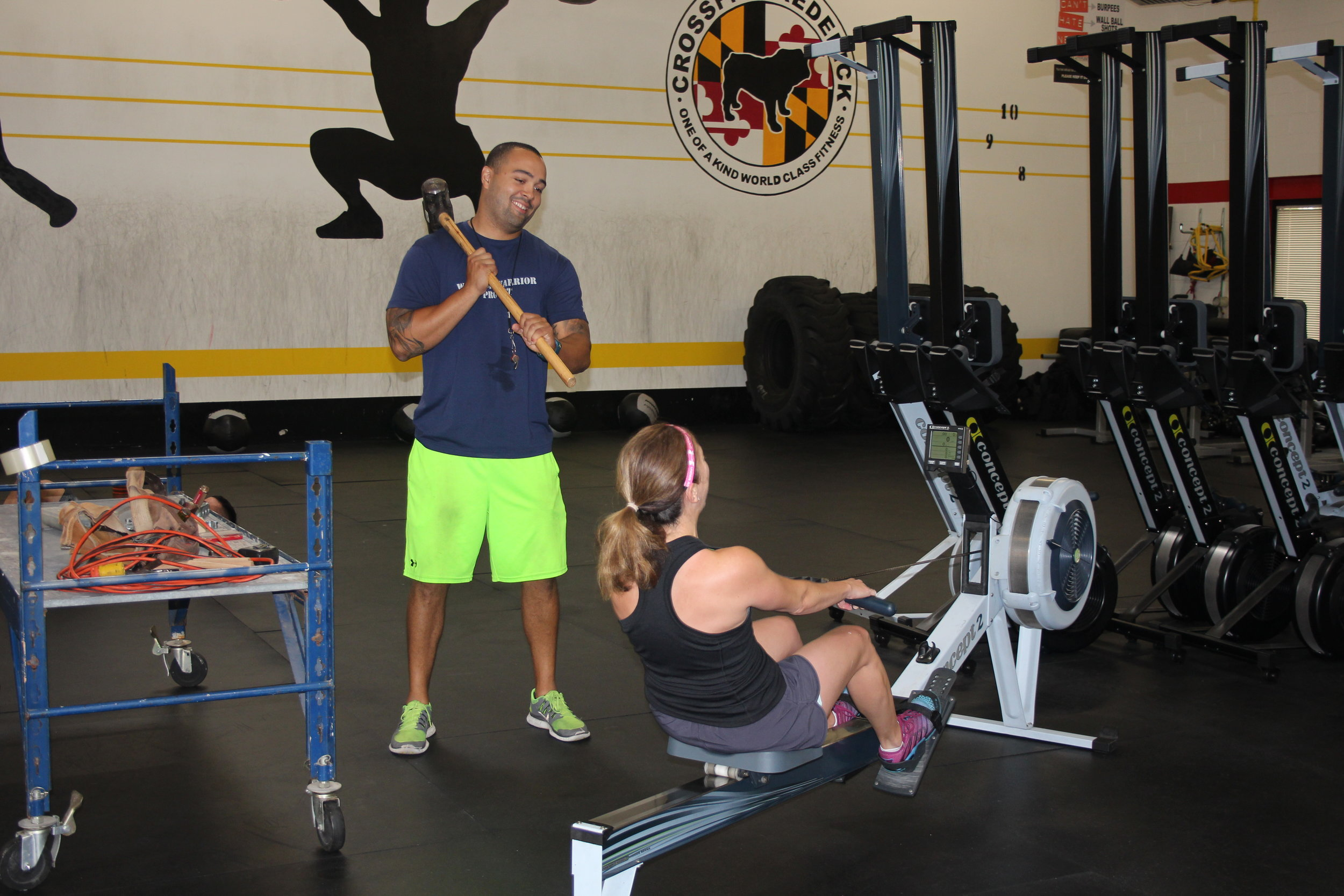 At CFF, our coaches have ways of motivating you to row harder...