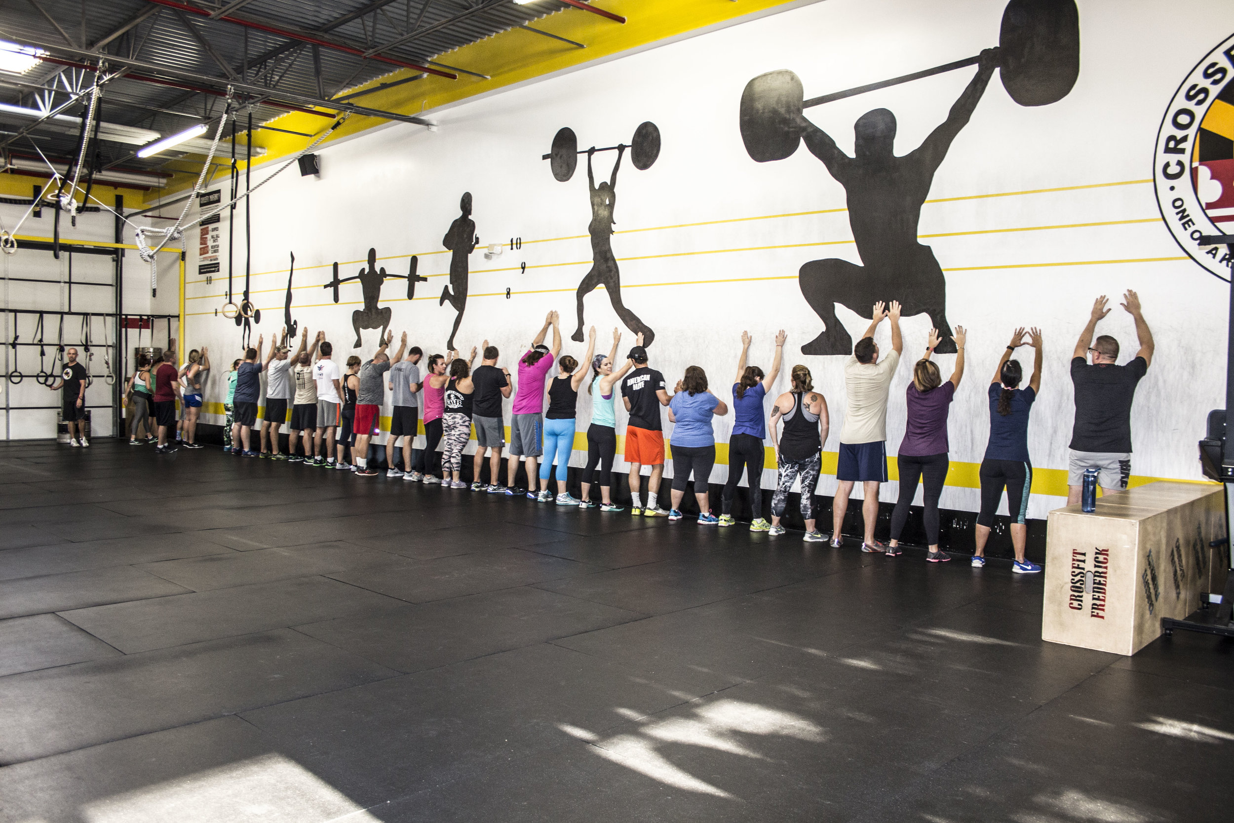 How many Athletes can fit on the wall?