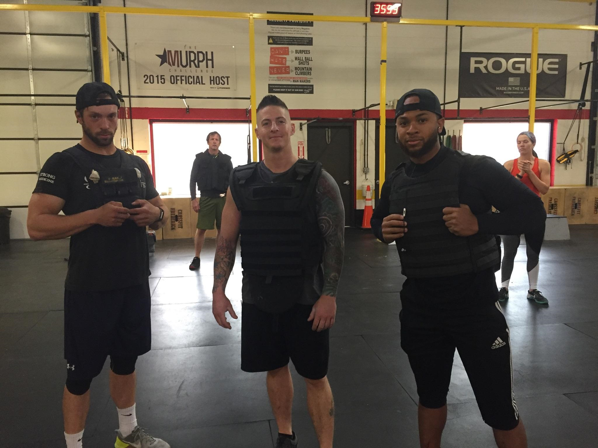 The Weighted vest-ers @ 8am on Saturday.
