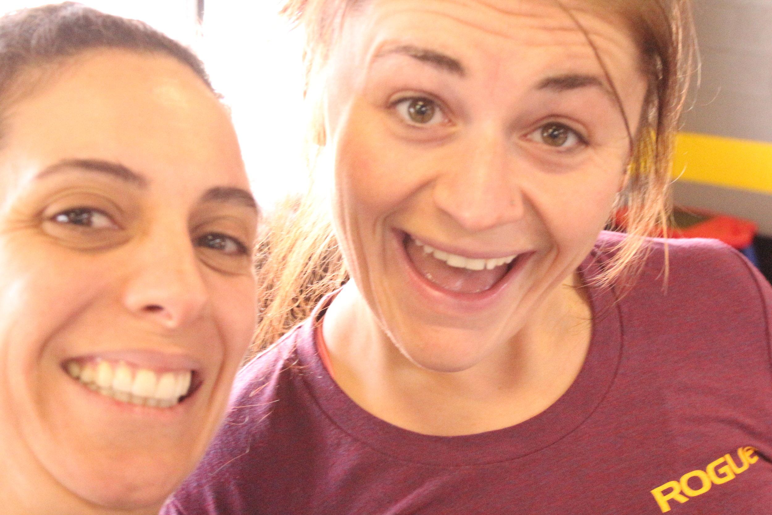 Mireille and Alex; avid 9AM class members!!! :)