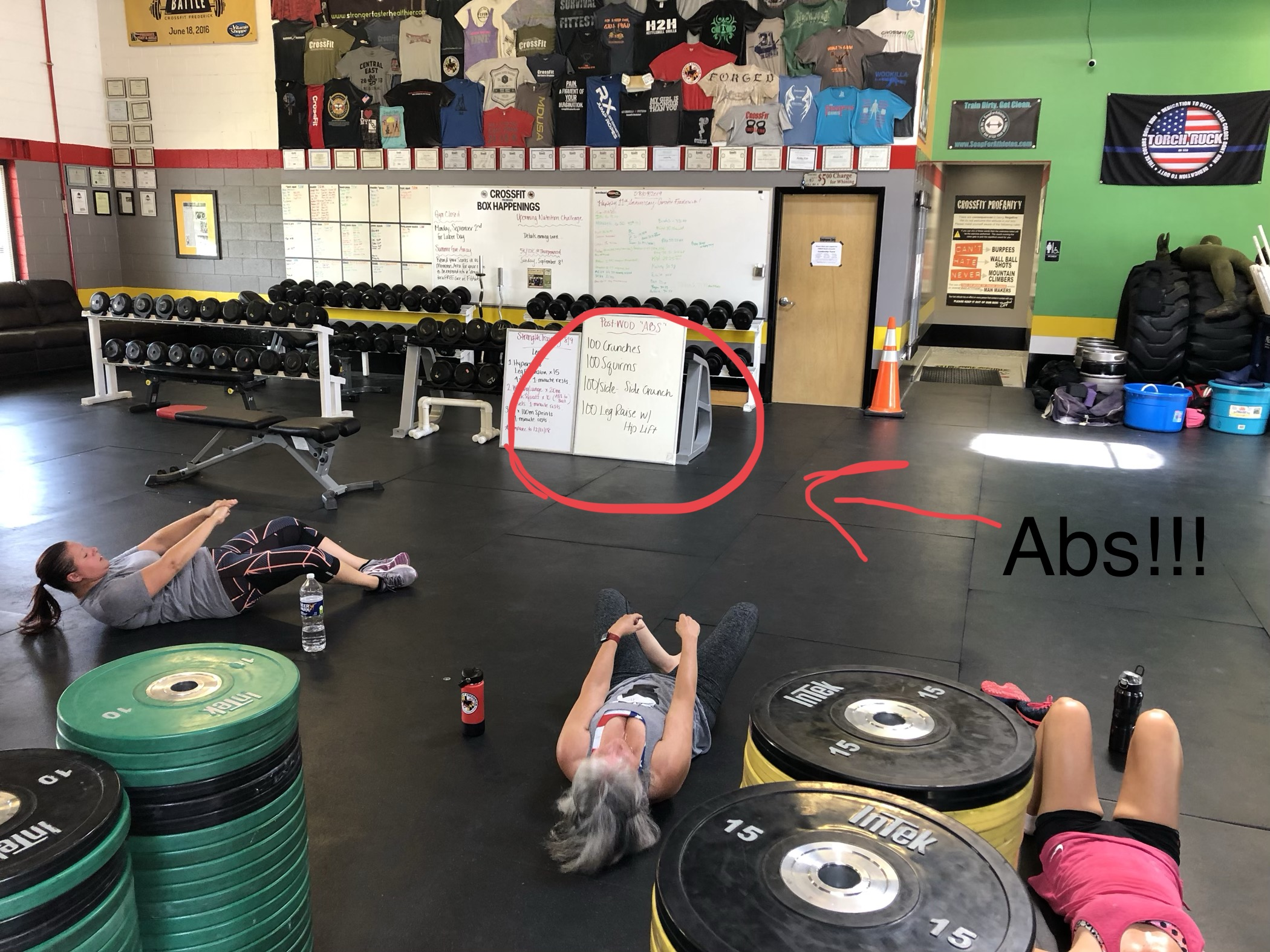We love abdominal exercises, especially for a Post-WOD.