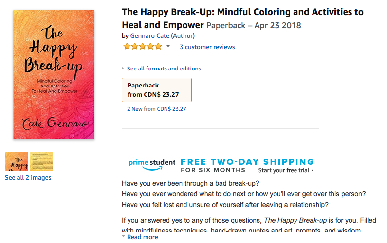 """Buy The Happy Break-up on Amazon: - Important 👉🏼 Please click on the """"Golden Brick Road Publishing House add to cart"""" from the buying options to get our premium print version👇🏼CANADA: https://amzn.to/2KNwytRUSA (I suggest using the above link, alternatively USA is print on demand version - simply add to cart): https://amzn.to/2vJB8pk"""