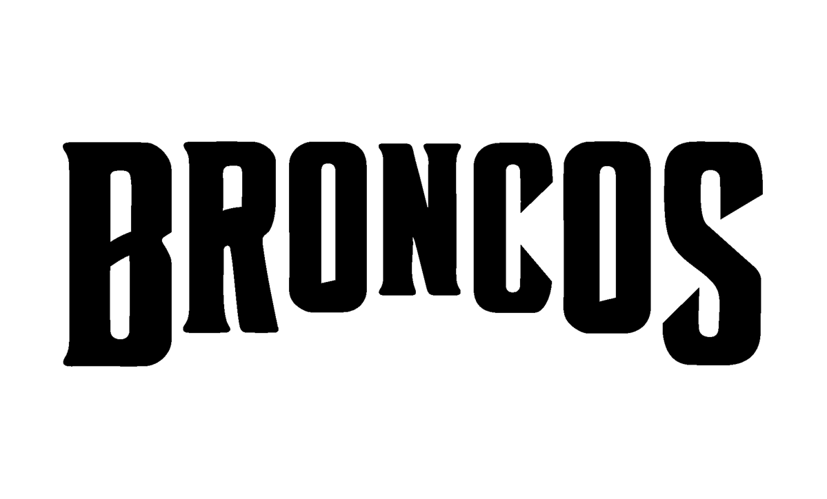 This was Broncos' original logo they came to me with, looking to update and refresh it while still keeping the original type.