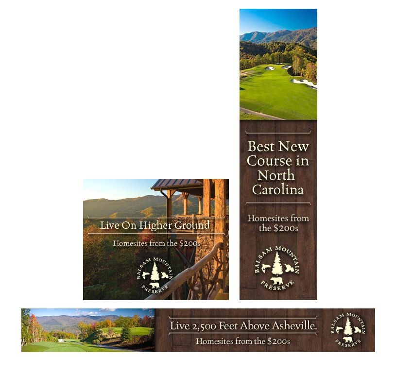 Banner Ads for Balsam Mountain Preserve