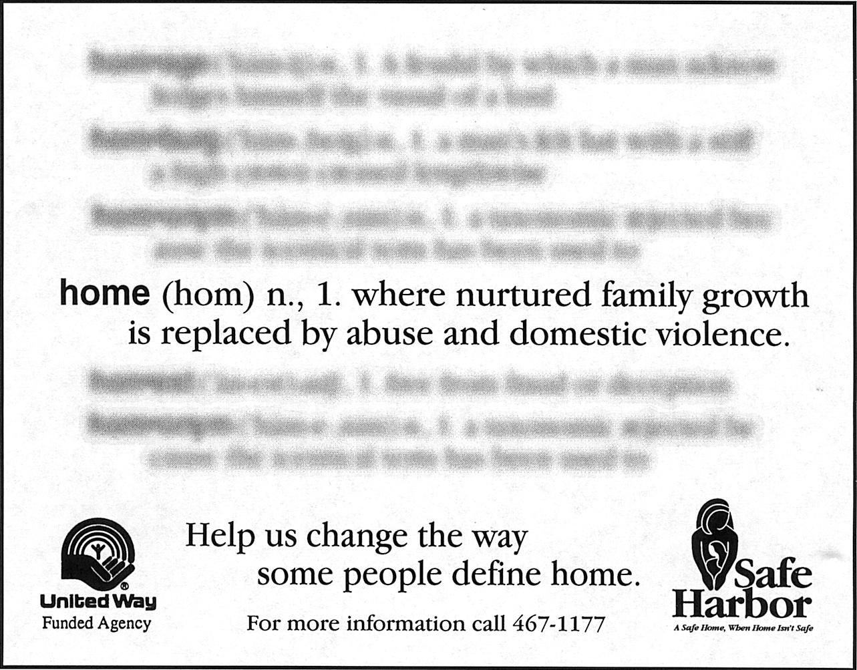 "United Way - Safe Harbor ""Home"" Ad"
