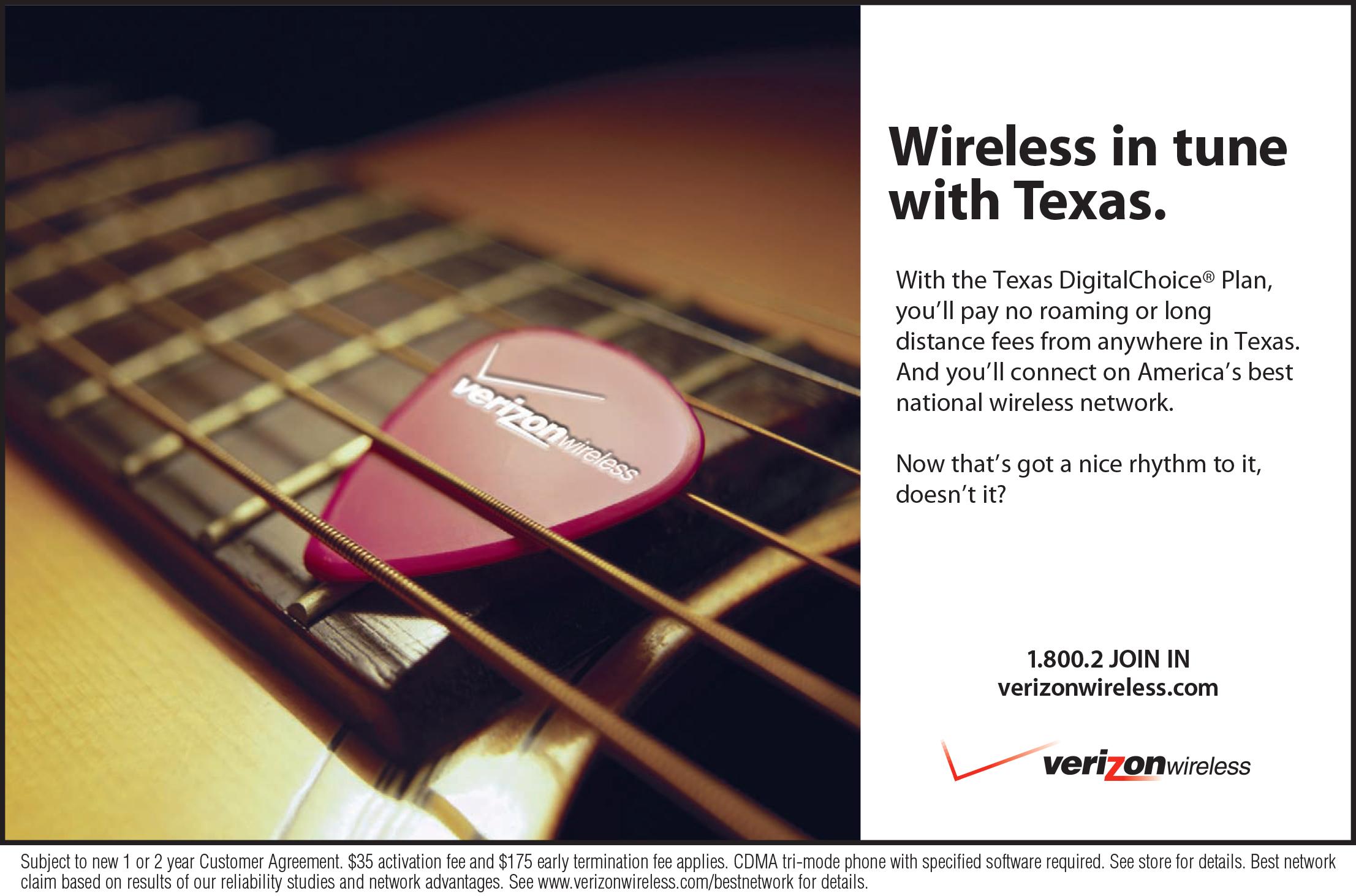 Verizon Wireless Texas Region Ad