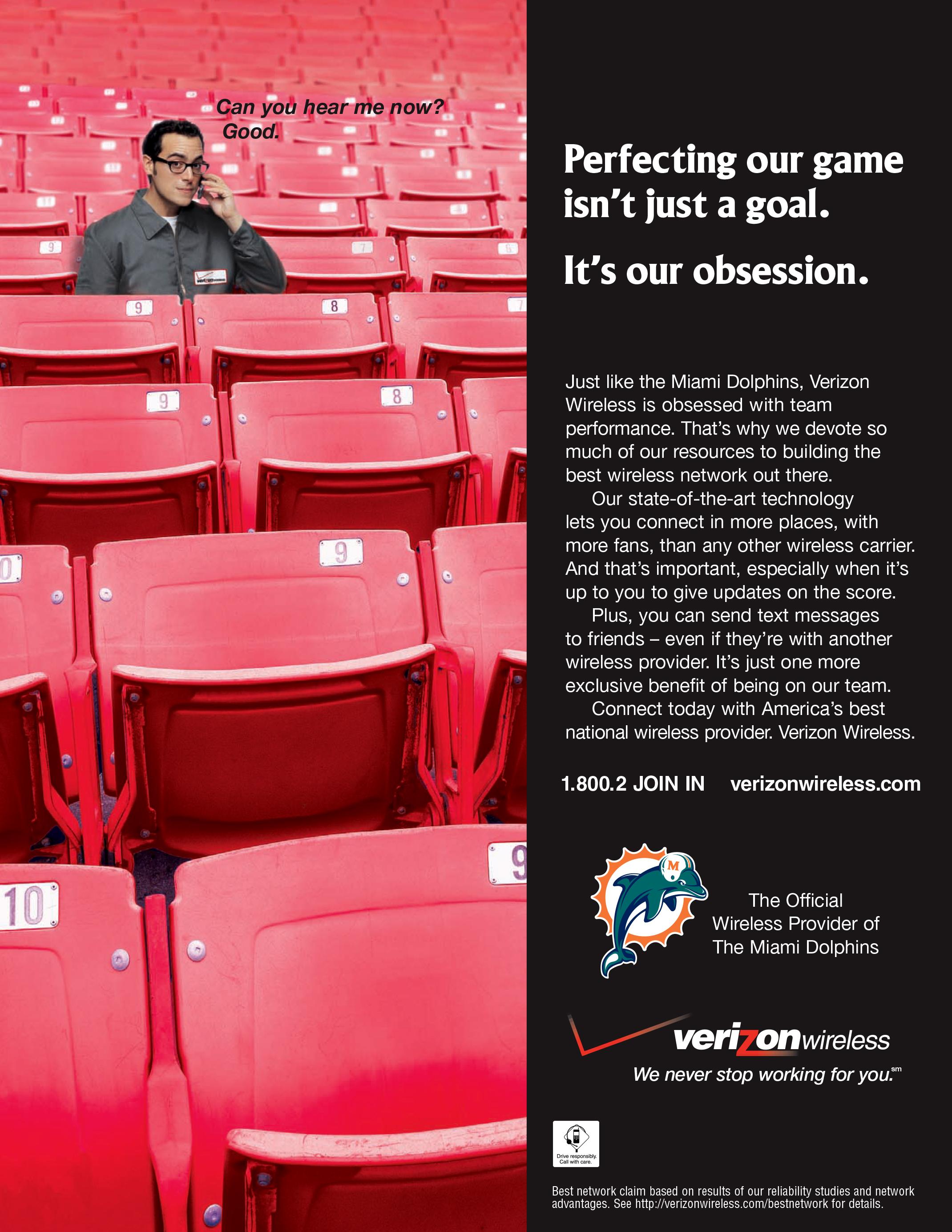 "Verizon Wireless ""Dolphins Football"" Ad"