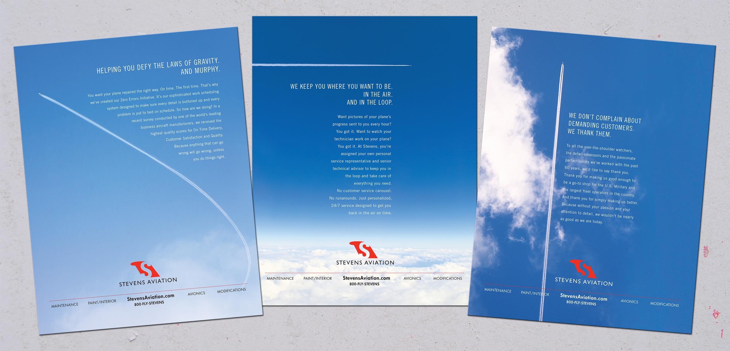 Stevens Aviation Trade Ad Campaign