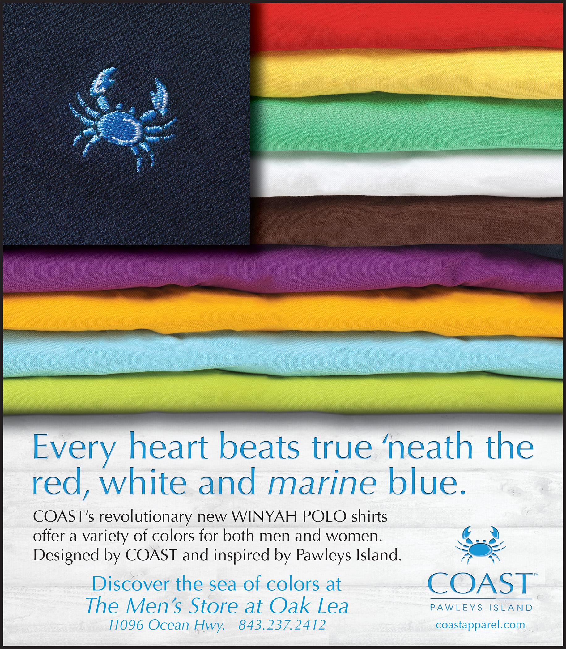 "COAST Apparel Winyah Polo ""Colors"" Ad"