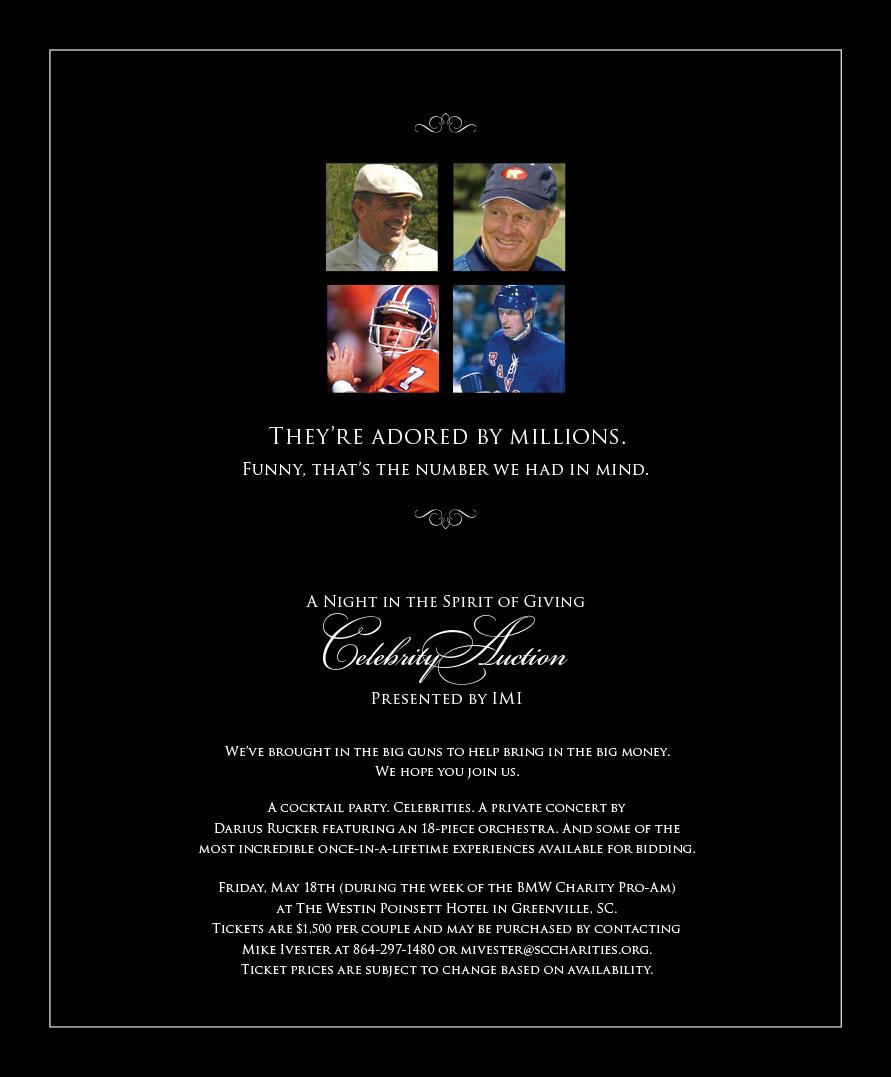 IMI Celebrity Auction Ad